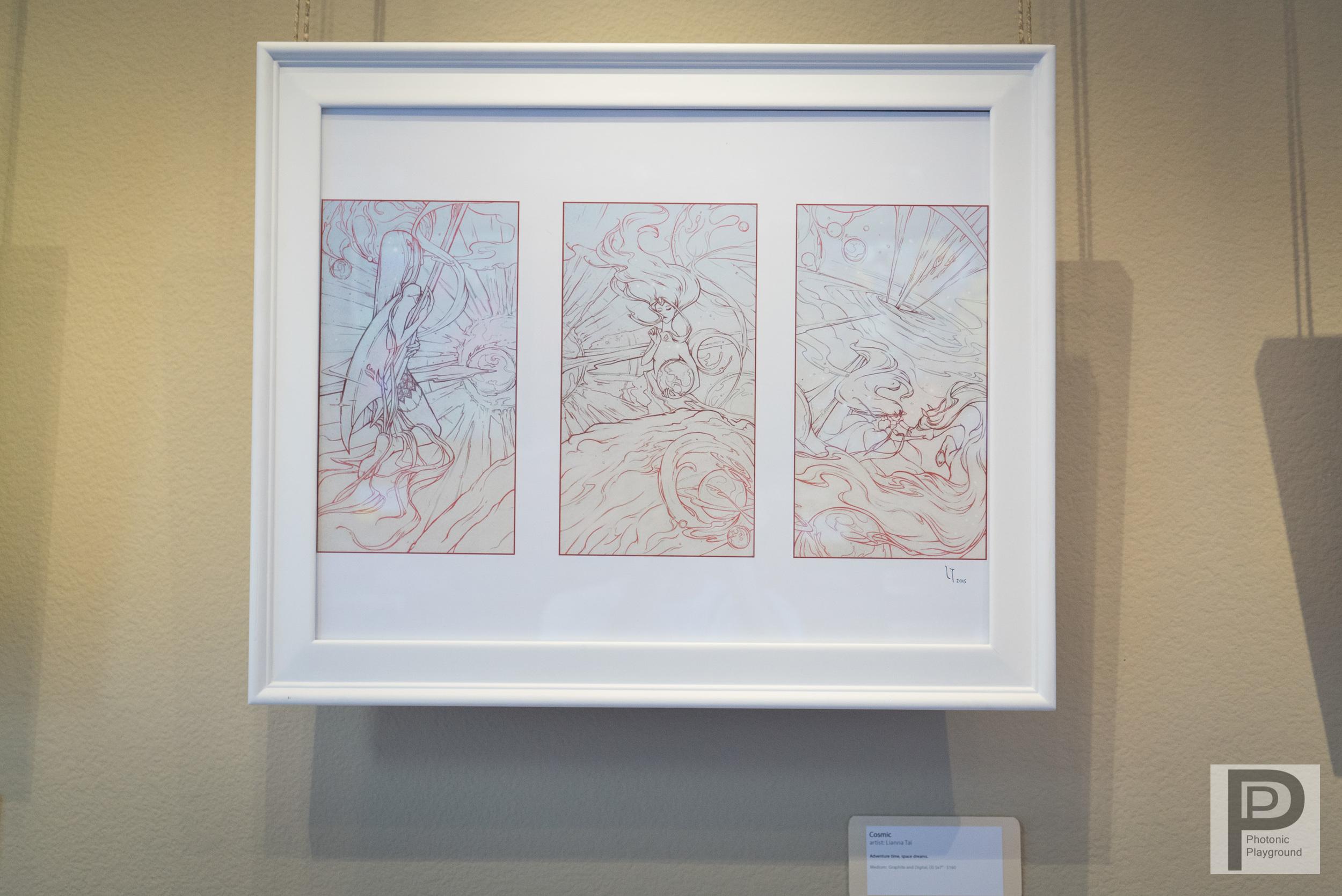 """""""Cosmic"""" framed art"""