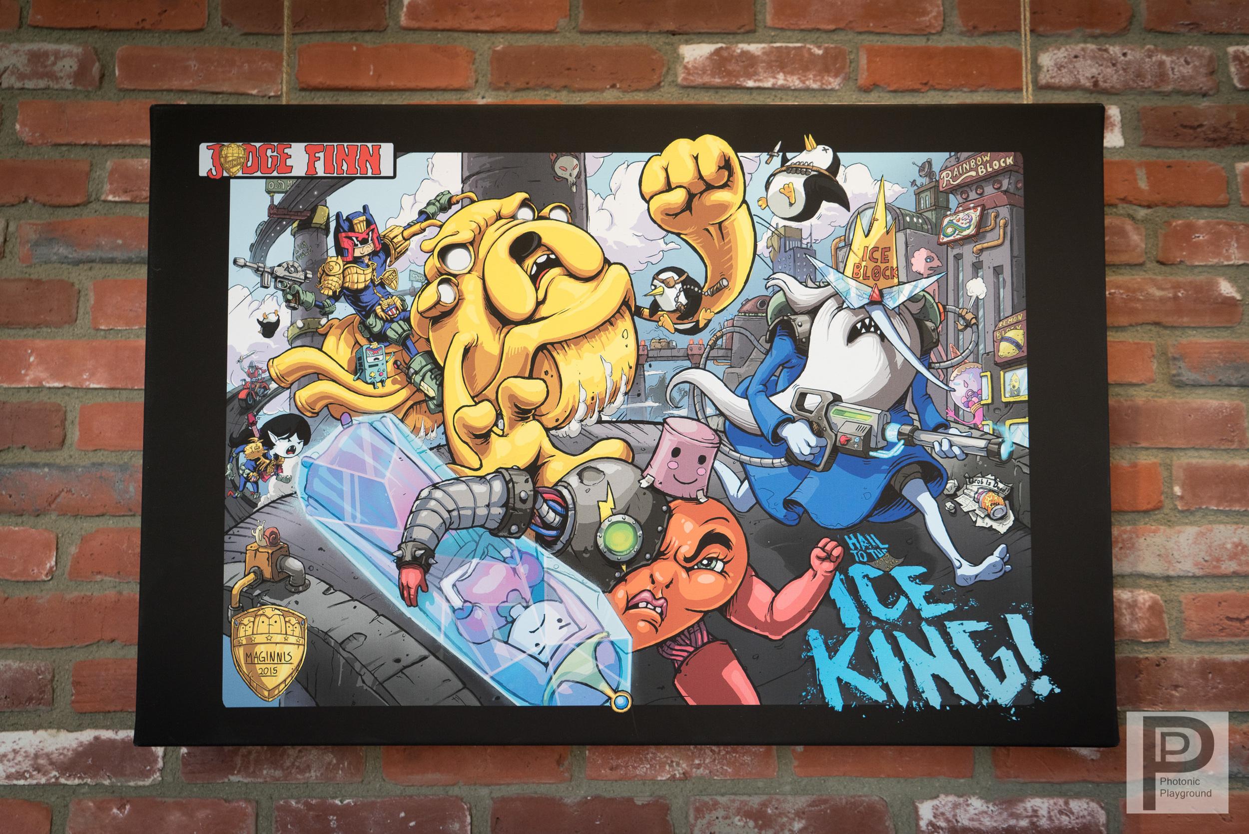 """""""Judge Finn: Hail to the Ice King!"""" canvas art"""