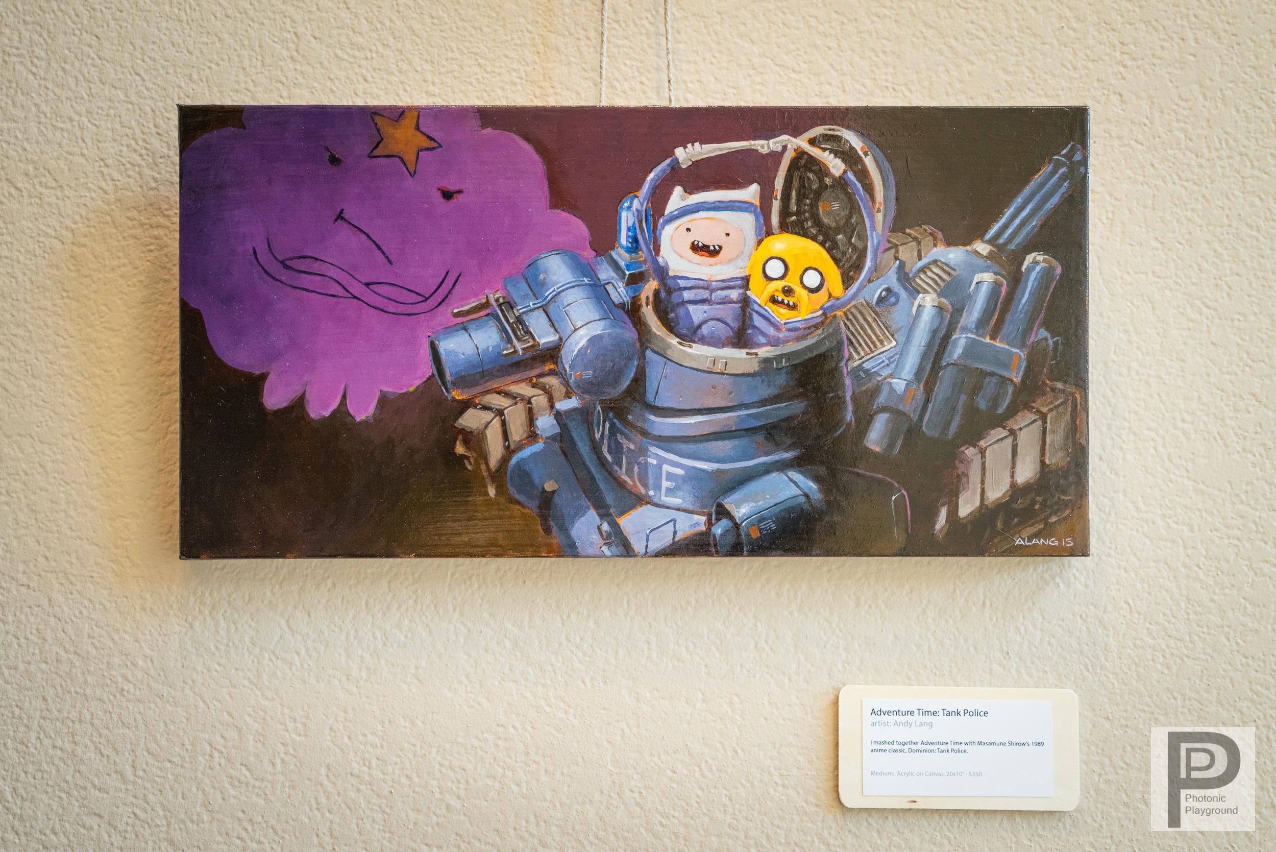 """Adventure Time: Tank Police"" framed art"