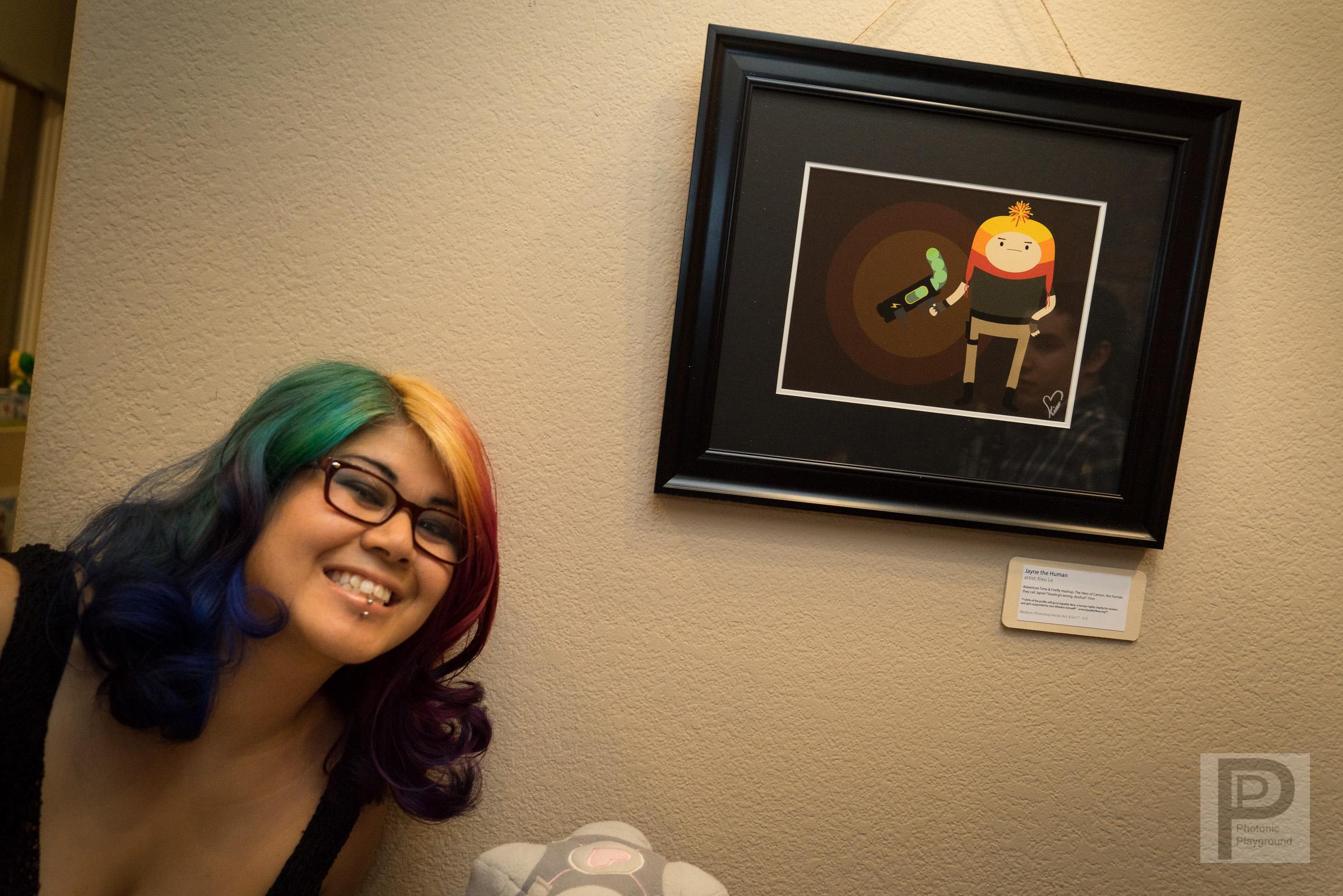"""Jayne the Human"" framed art"