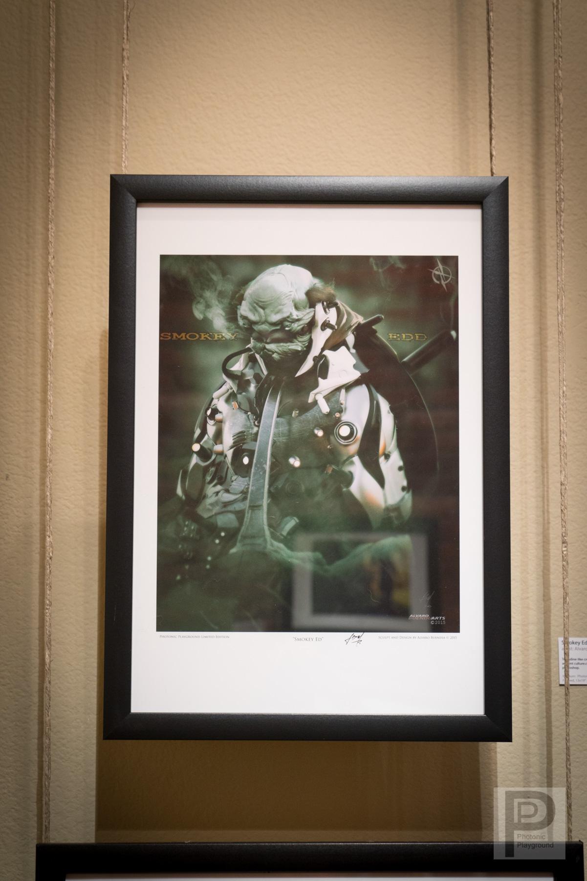 """Framed """"Thoughtful Smokey Ed"""""""