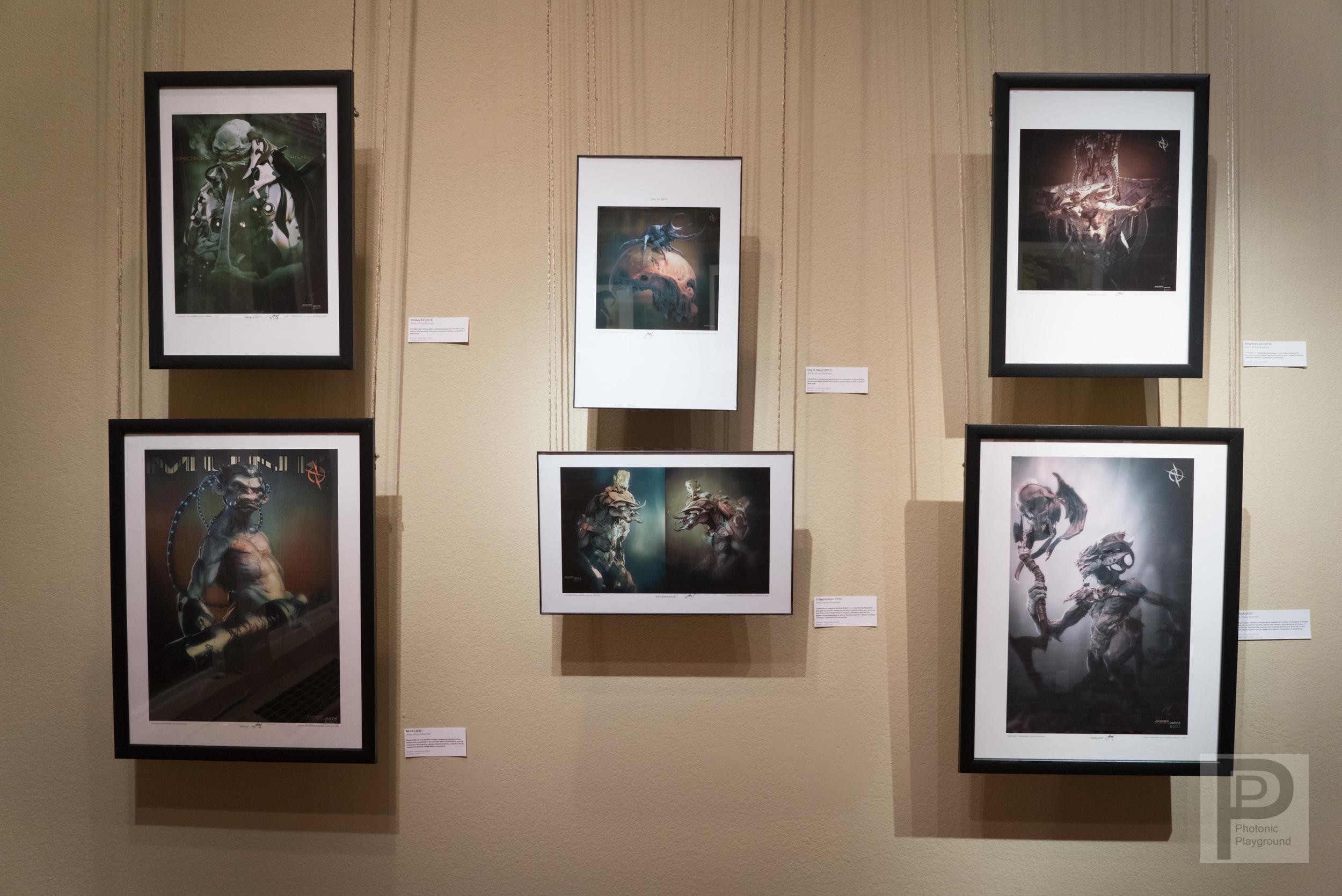 Gallery display of Alvaro Buendia'sart.