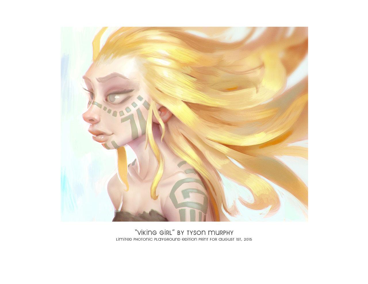 """Viking Girl"" print"