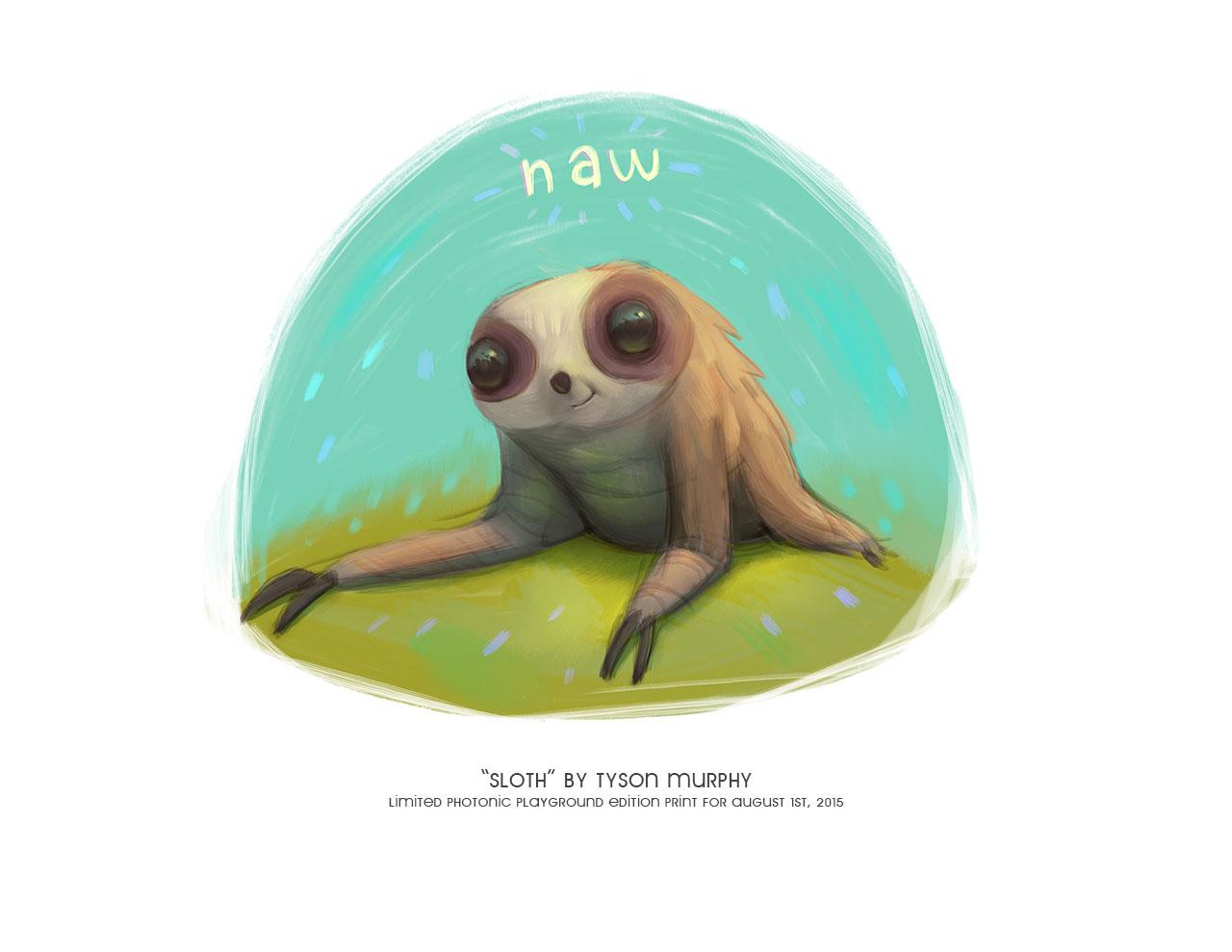 """Sloth"" print"