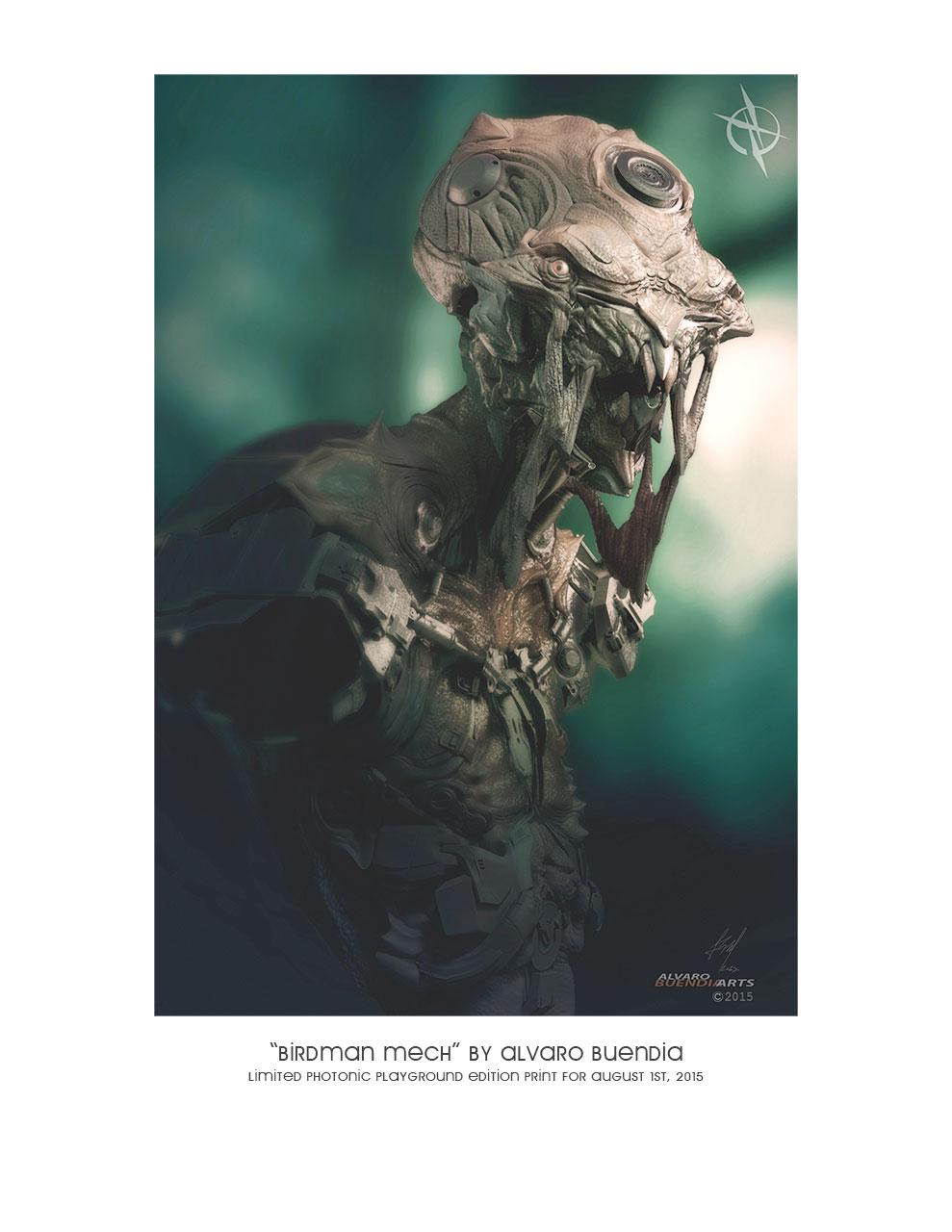 """Birdman Mech"" print"