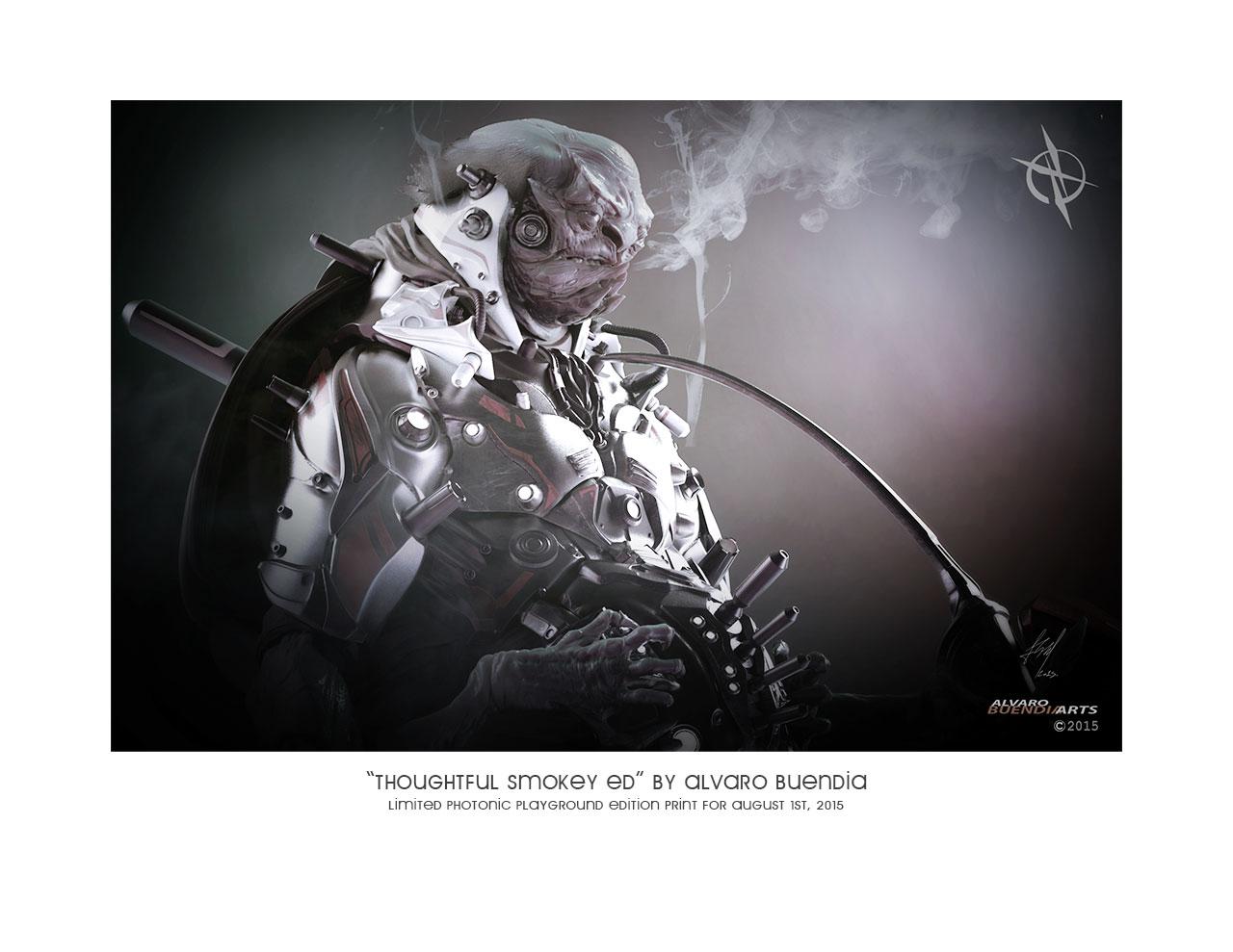 """""""Thoughtful Smokey Ed"""" print"""