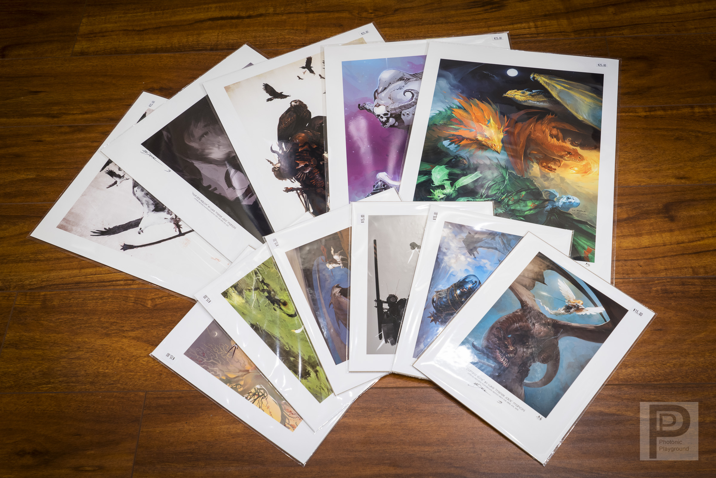 """Limited gallery exhibition giclée art prints for  Luke """"Mr. Jack"""" Mancini  during his  April/May 2015 show . These were printed on Epson Cold Press Bright in 8.5x11"""" and 13x19"""" sizes with protective plastic sleeves and hard backboards in each print.  See his online store here ."""