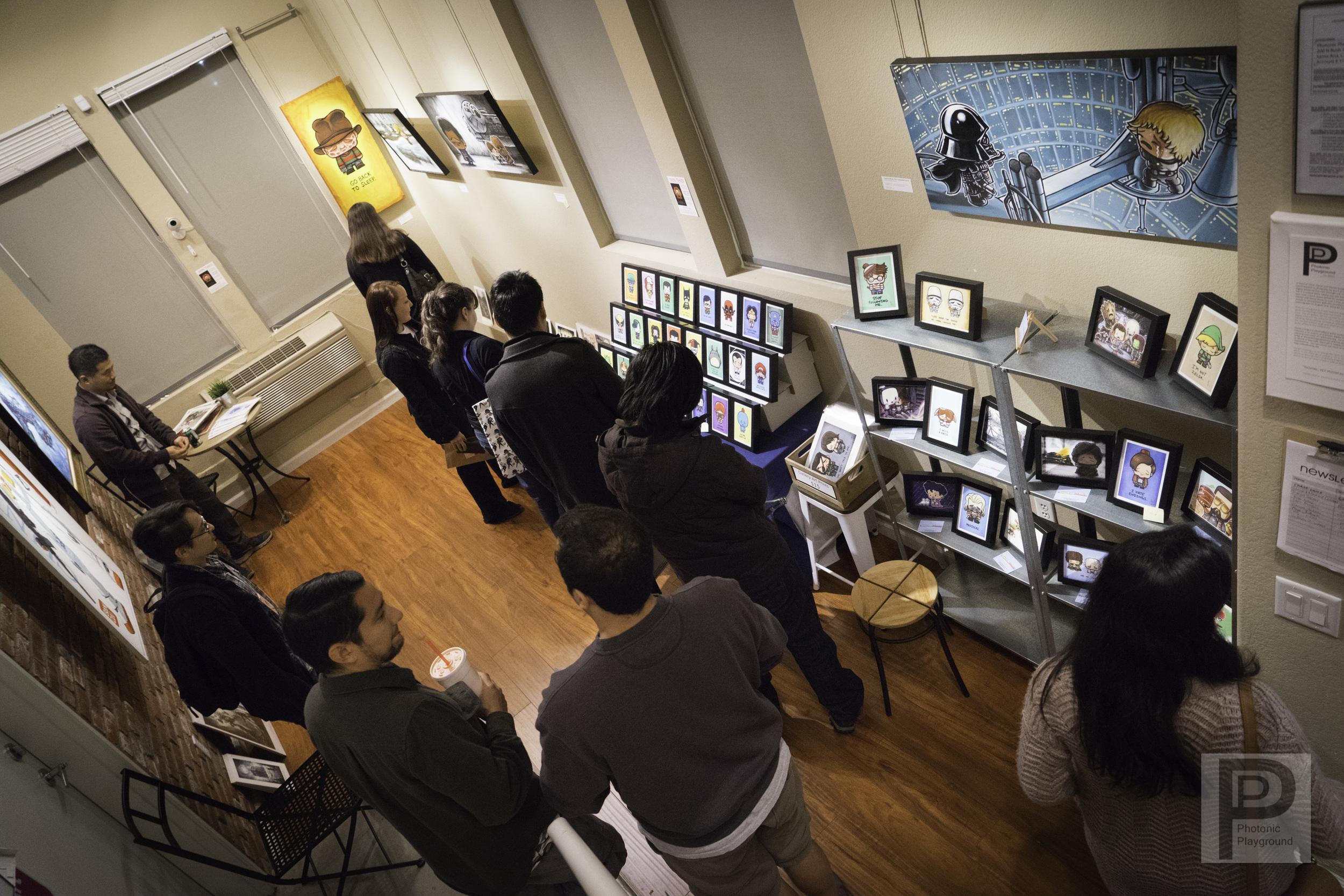 The gallery was abuzz the Winter cold day of December 2015 with the art of J Salvador Ramos and Tae young Choi.