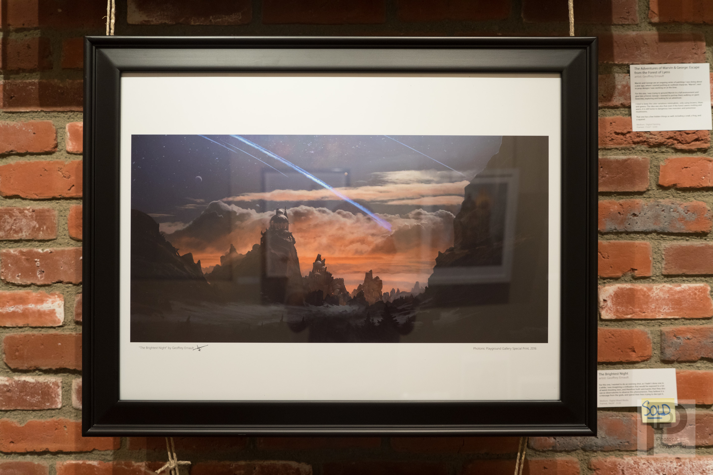 "Framed ""The Brightest Night"""