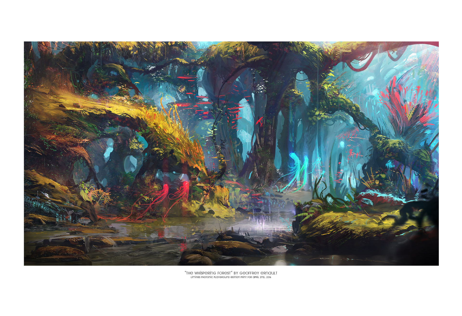 "13x19"" print of ""Whispering Forest"""