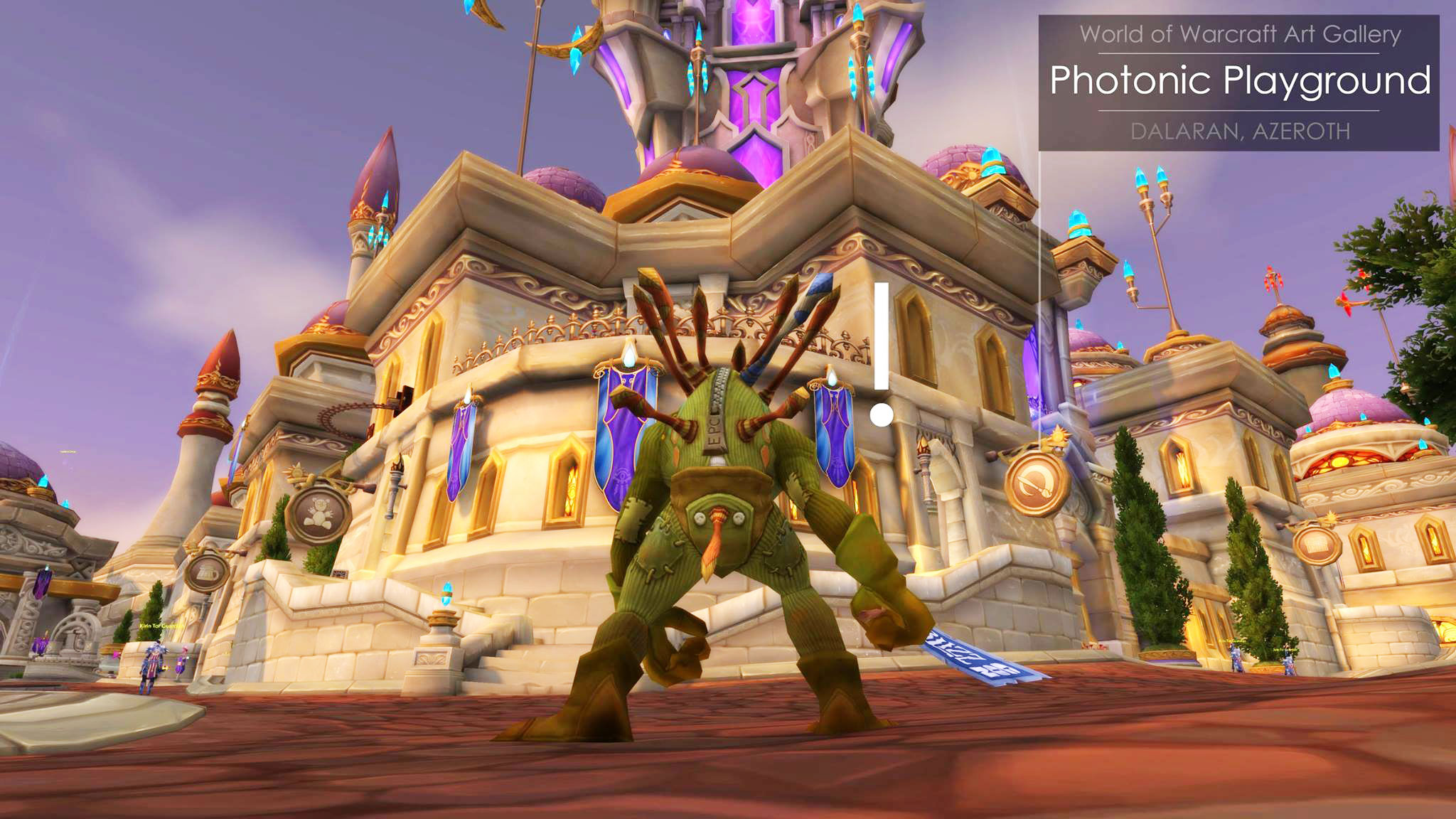 In WoW?! - Our gallery, Photonic Playground, is now in World of Warcraft in the new Dalaran as of the Legion expansion! Thank you to the WoW design team for adding us digitally to the world's biggest MMORPG game. More about the game: http://worldofwarcraft.com