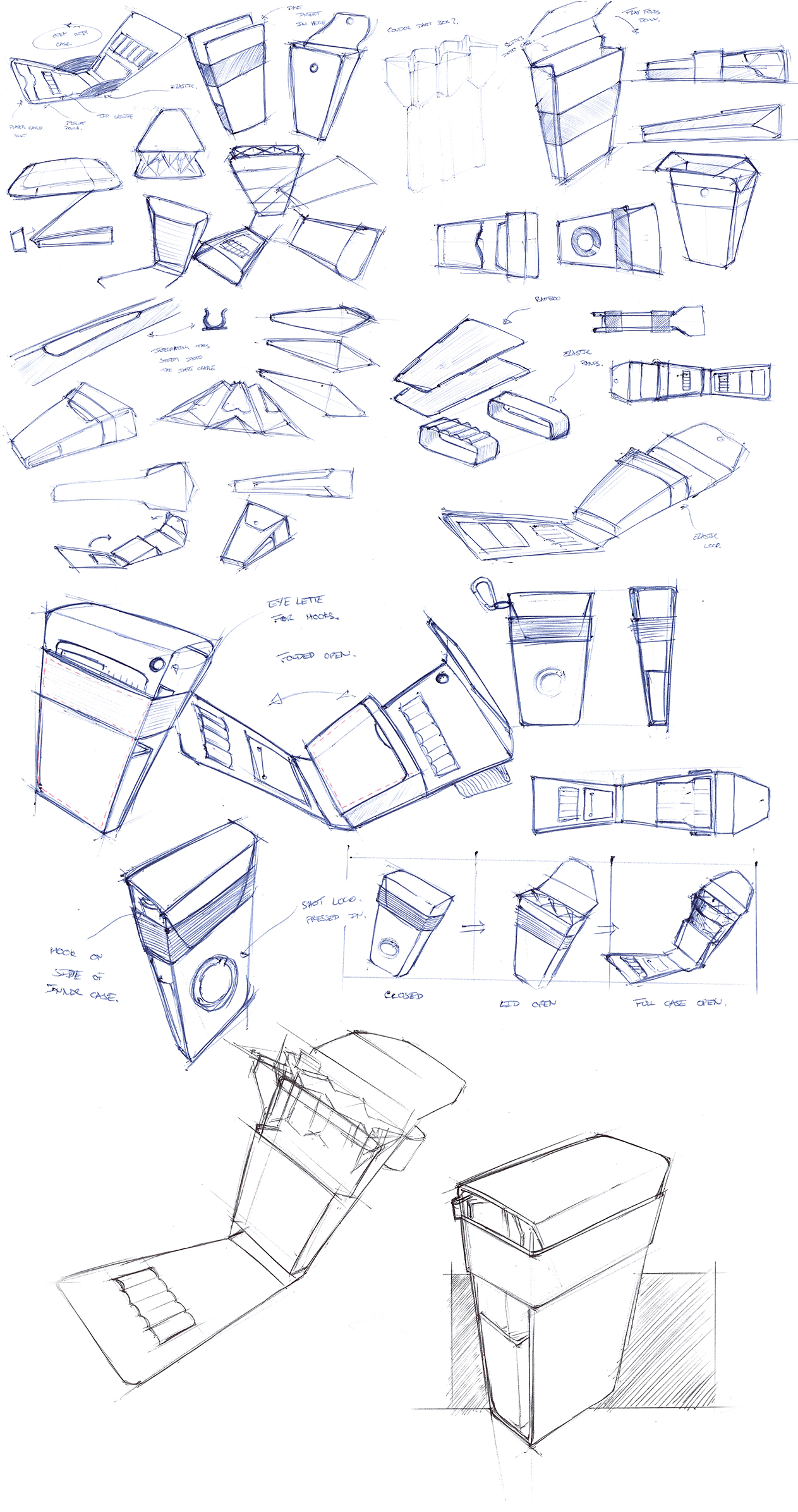 Vertex Dart Case Concept Sketches.(c.2016)
