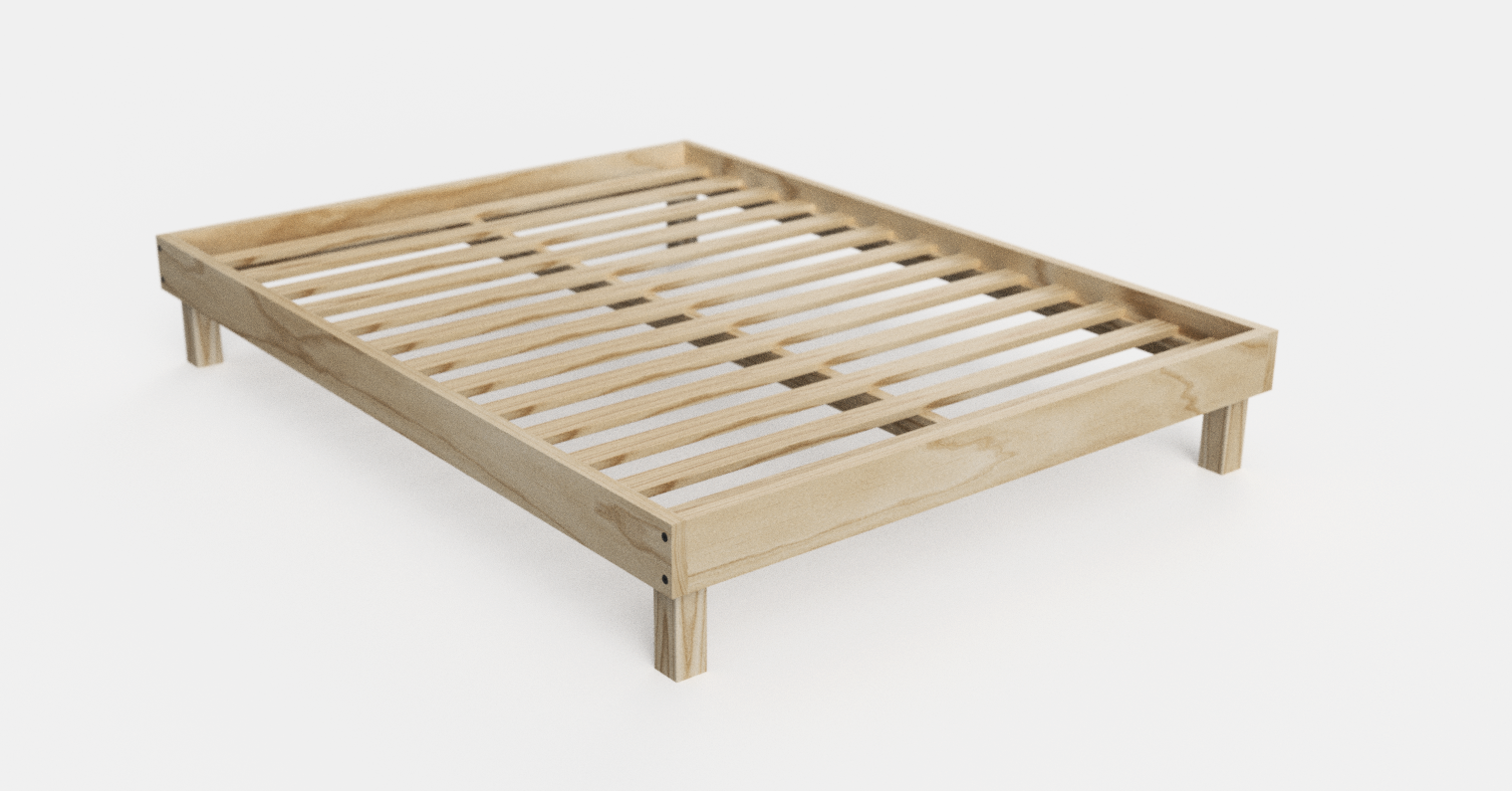 Bed frame render in Fusion 360