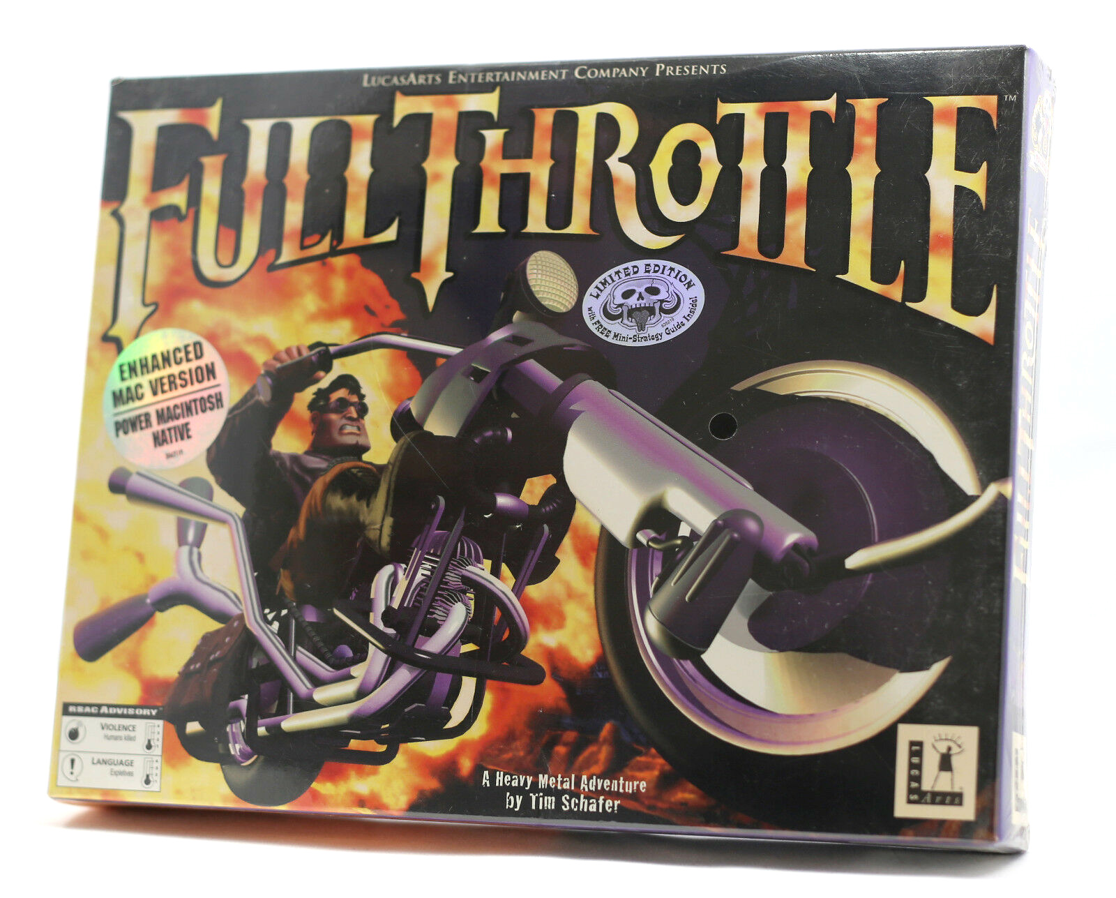 Full Throttle, by Tim Schafer and Lucasarts.