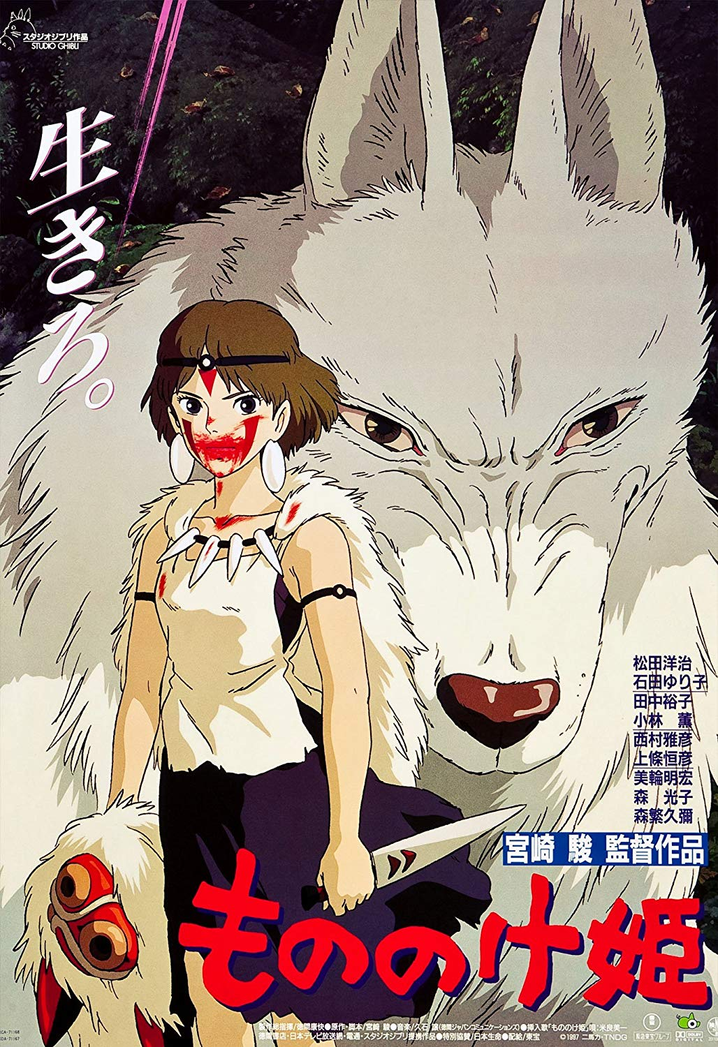 Kiki's Delivery Service and Princess Mononoke by Hayao Miyazaki and Studio Ghibli.