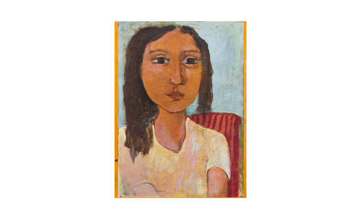 Claudia, 2010 • gouache on paper• (h)196mm x (w)135mm
