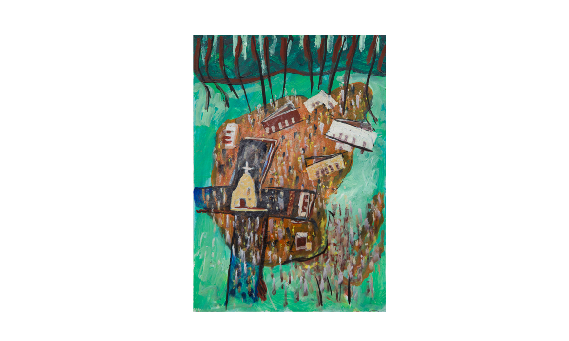 Hermannsburg mission, 2011 • gouache on paper• (h)190mm x (w)132mm