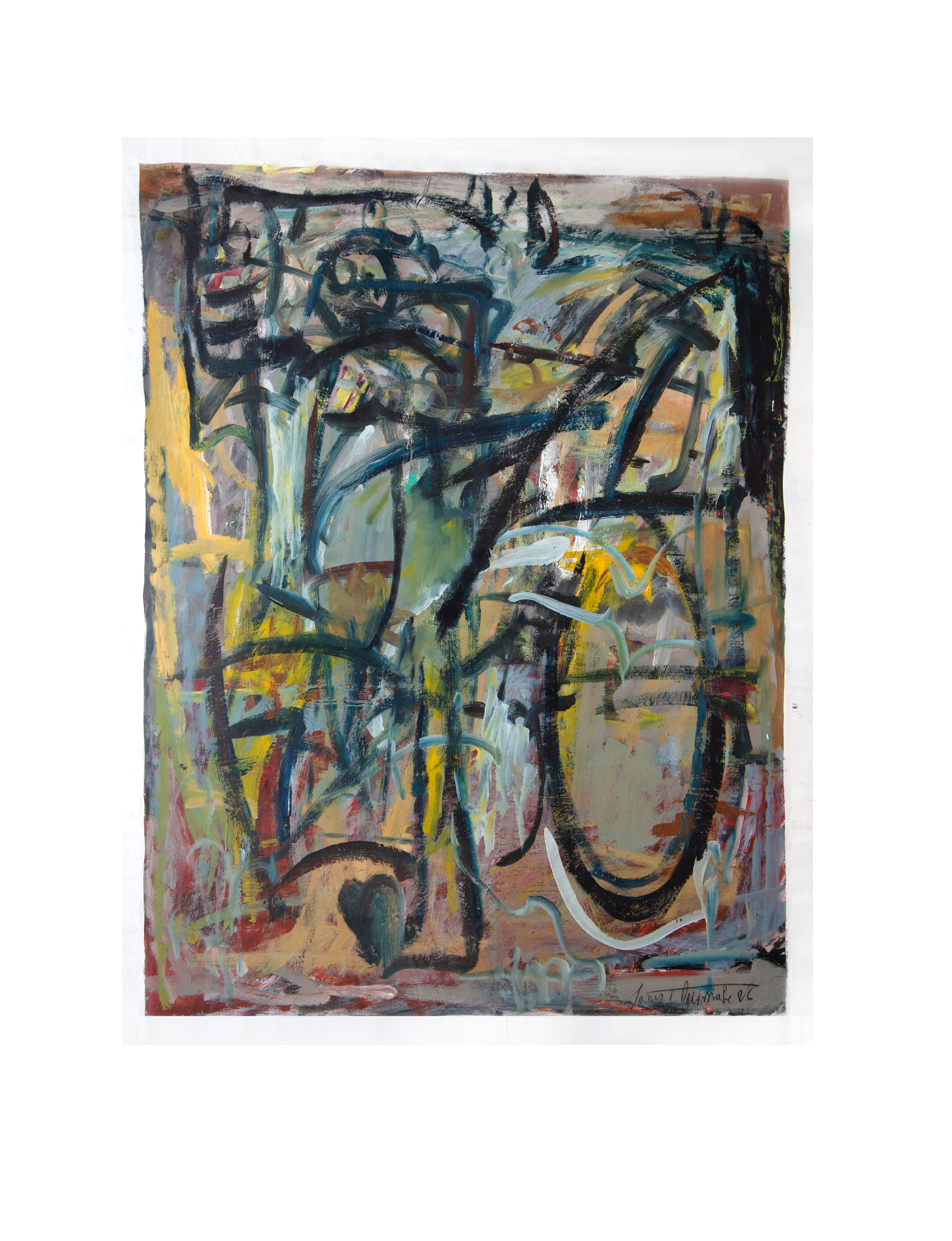 Bicycle Rider  1986 • Acrylic on paper  1270mm (h) x 965mm (w)