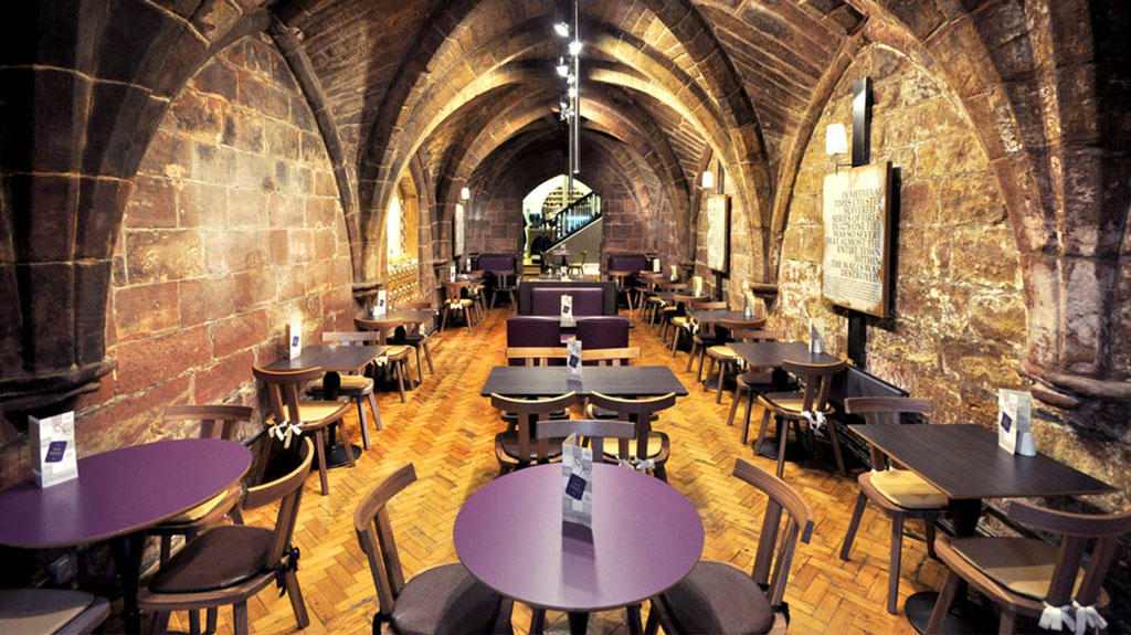 The Crypt Restaurantfurniture  by HF Contracts.