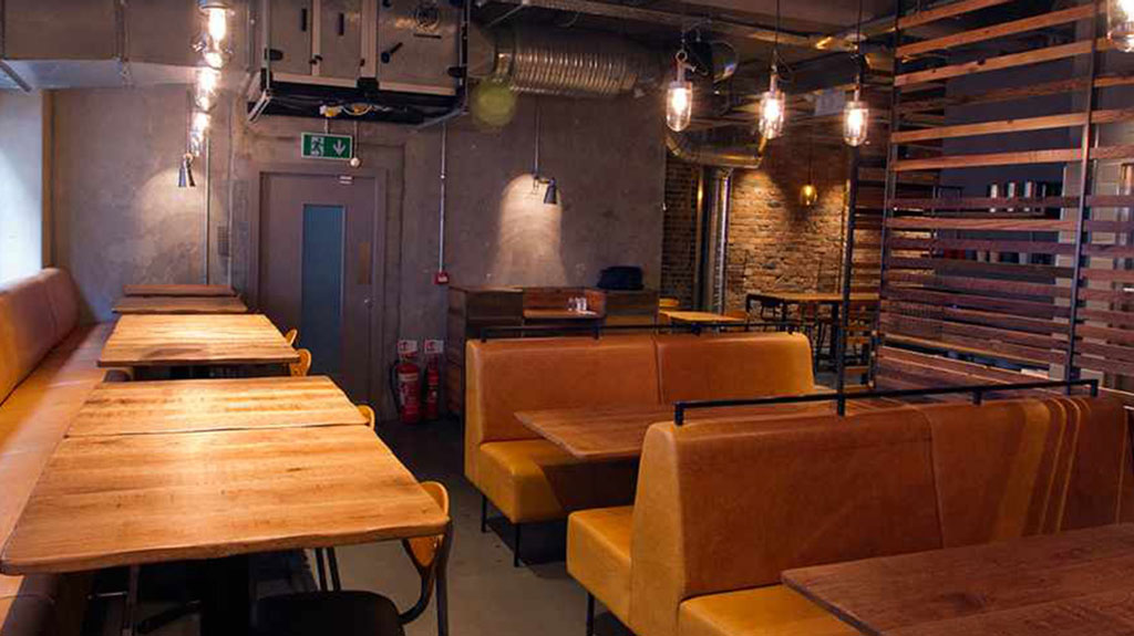 Imli Street Restaurant furniture   by HF Contracts.