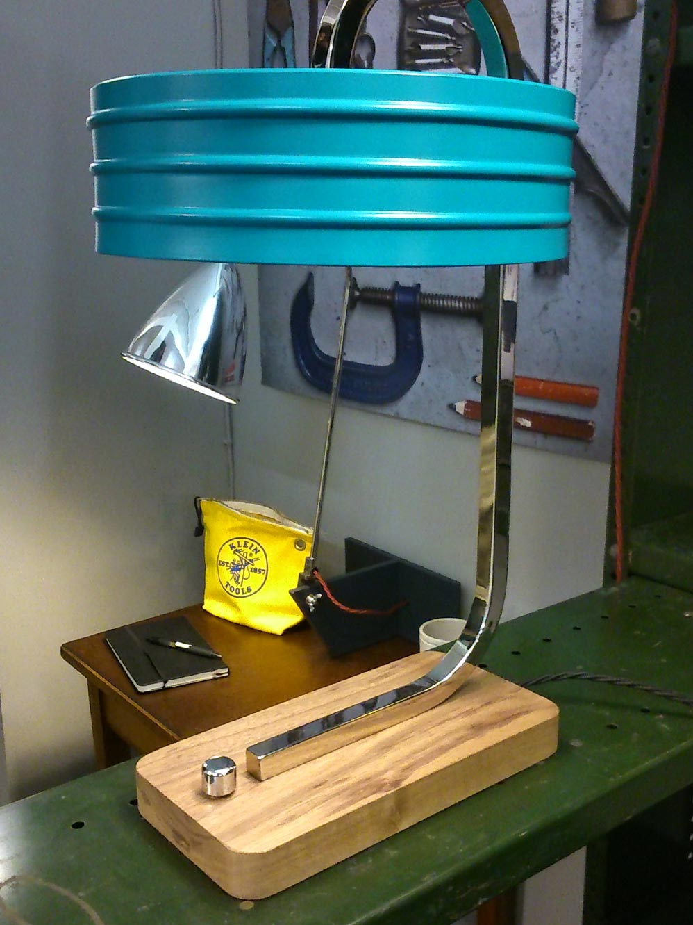 Here's The Otis Lamp by  Nocturne  who produced some fantastic vintage style products.