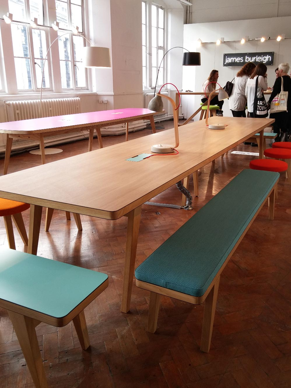 We loved this contemporary set of furniture by  James Burleigh . Really breaks the boundaries between formal and informal furniture.