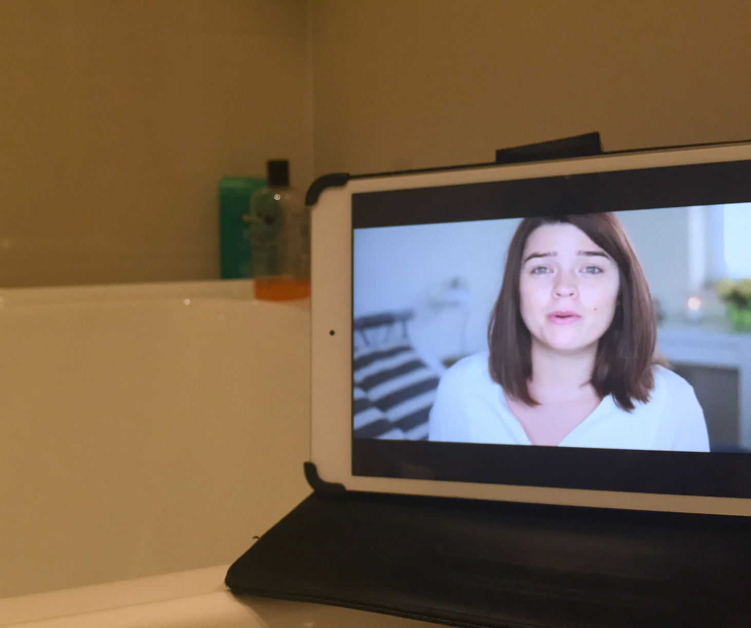 Yes, I watch YouTube in the bath...