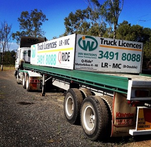 Learn how to reverse a trailer at IAN WATSON'S