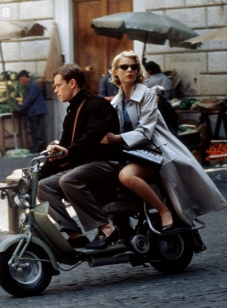 Matt Damon riding a Vespa in The Talented Mr. Ripley