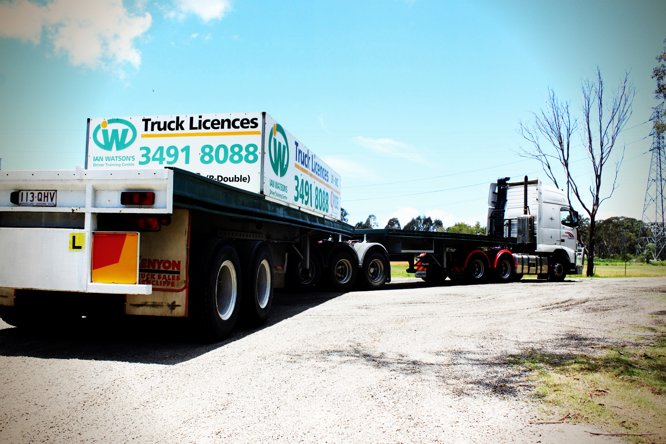 get your MC, road-train, b-double or b-triple licence in Queensland Qld.