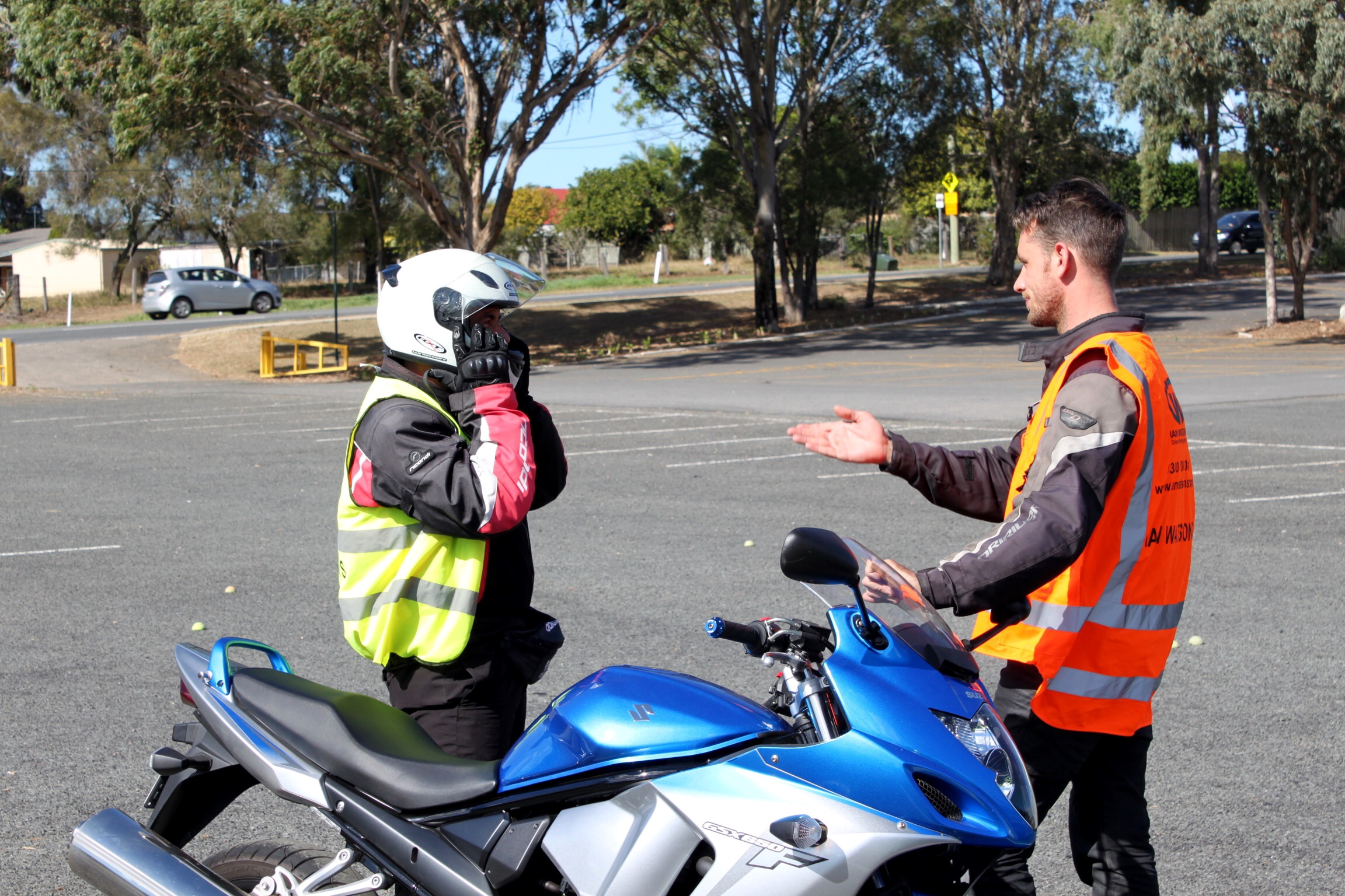 Motorcycle Helmets - can save your life! Buy a good one, wear it correctly at all times and take care of it.