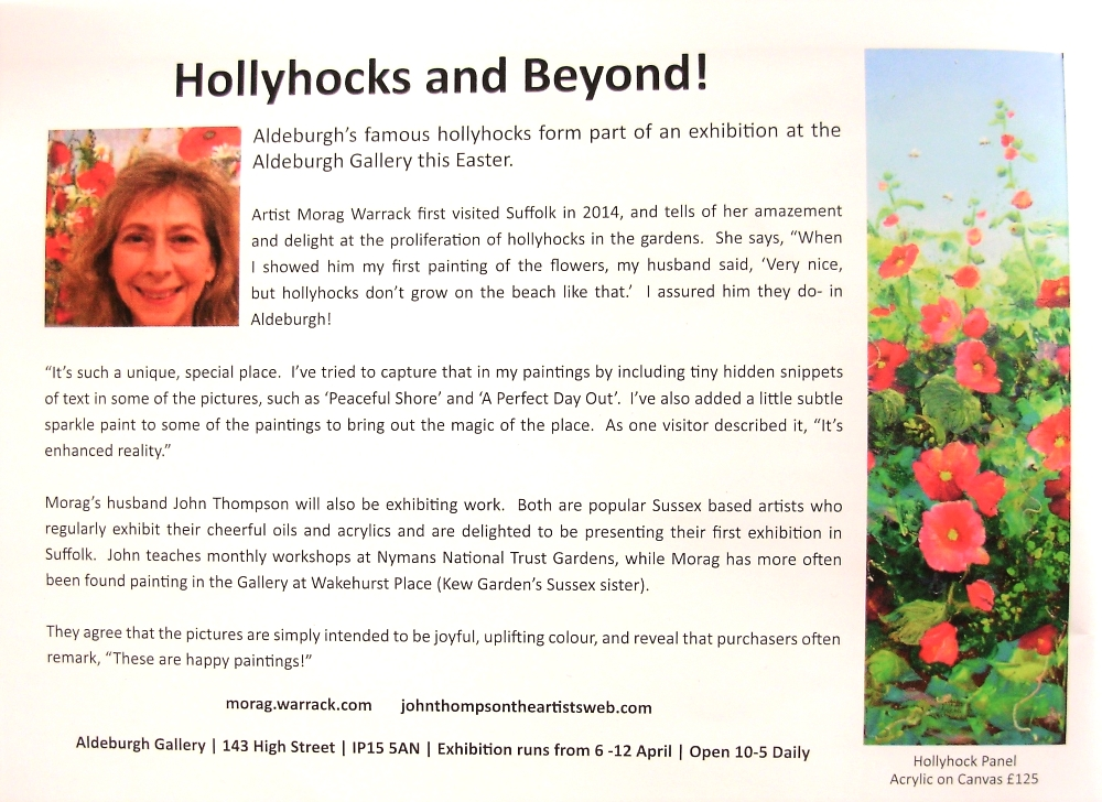 Aldeburgh Times Magazine Article April 2017