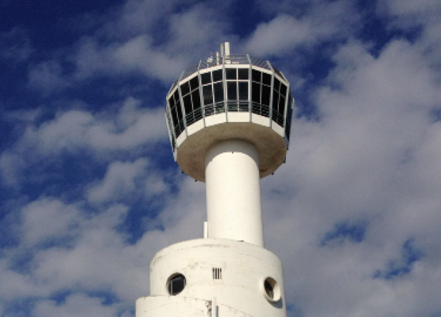 "E 3°7'45"" / N 42°14'56"" //   EMPURIABRAVA (ES): nautic tower"