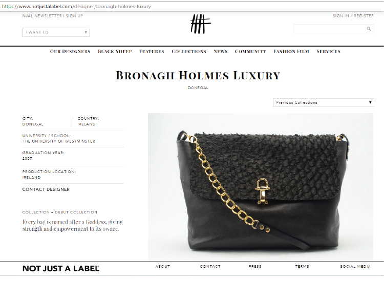 Bronagh Holmes Luxury - Not Just A Label