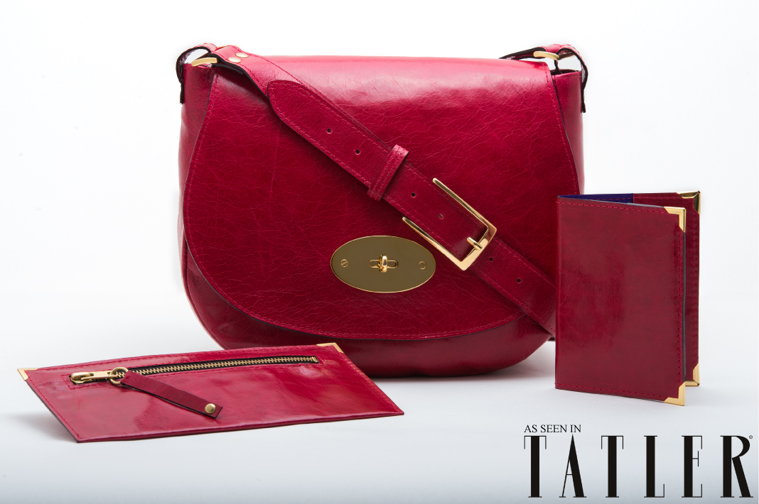 Bronagh Holmes Luxury Bag - Alana, Aiva & Aura in Scarlet - As seen in Tatler