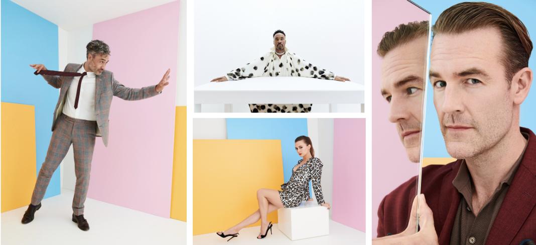 Vanity Fair x FX Networks EMMY's Portrait Studio designed by GSP. Taika Waititi, Billy Porter, Billie Lourd, James Van Det Beek. (Photos by Peter Yang)