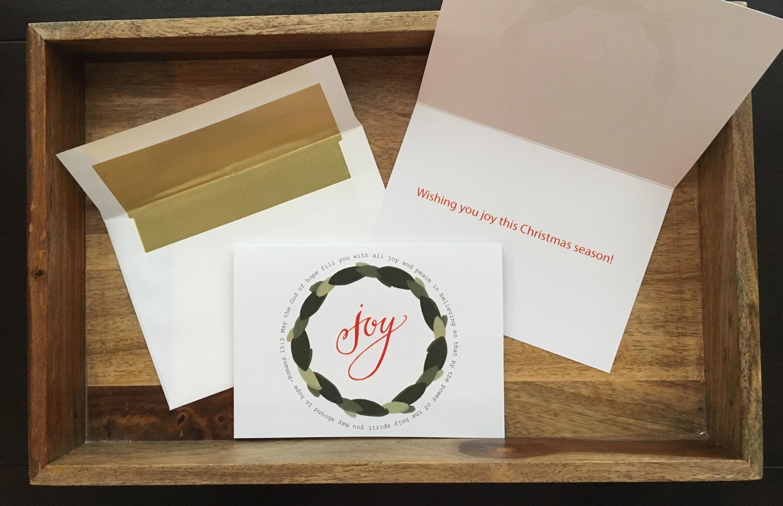 Free Printable- Joy Christmas Card