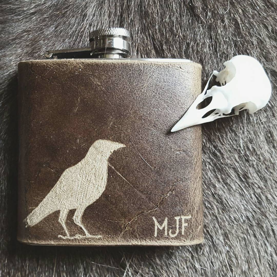 The Raven Hip Flask