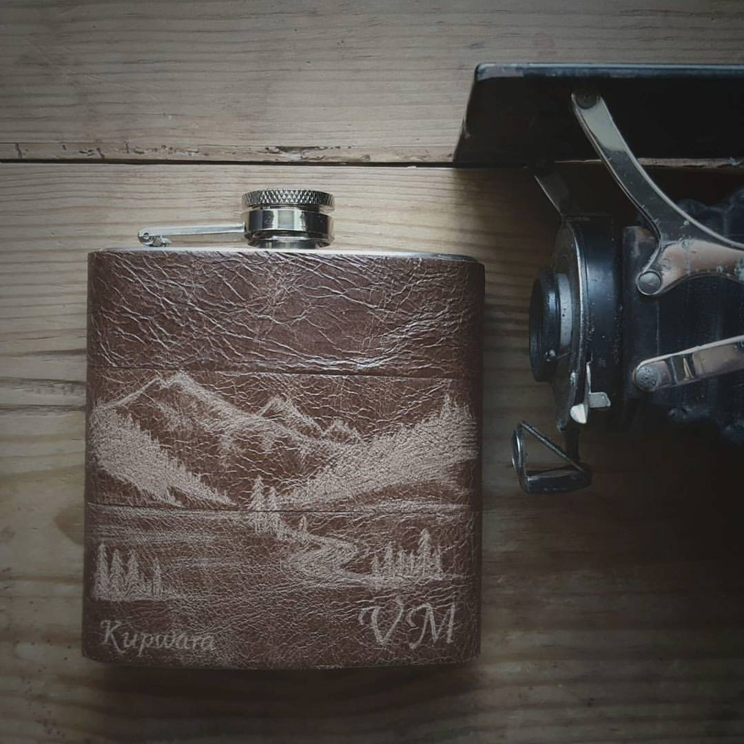 Custom Scene Hip Flask