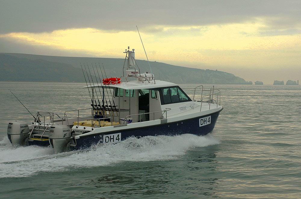 Our sponsored commercial boat 'Dart Angler'.