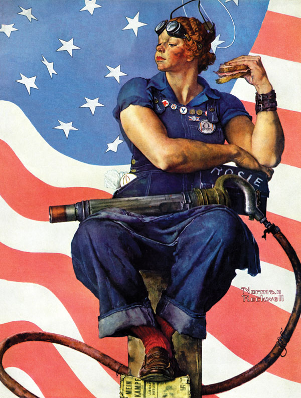 Norman Rockwell, 1943 Saturday Evening Post cover, May 29,1943