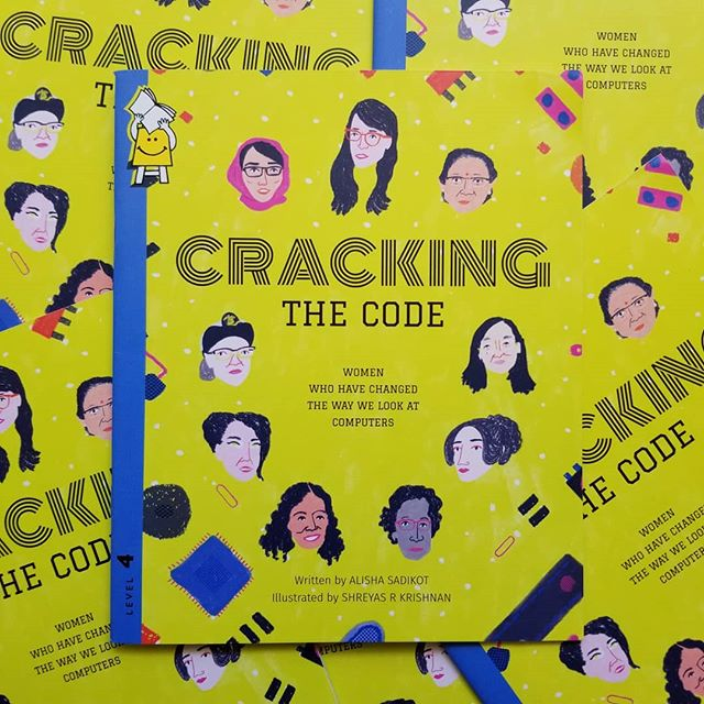 Just got my copies of Cracking the Code, my first book for @pratham.books , written by Alisha Sadikot . Always excited for opportunities to learn about + draw portraits of women being amazing.  Also finally a vague crossover between what @sumanarkrishnan and I do  Thanks to AD Aditi Dilip for thinking of me for this book  Cracking the Code: Women Who Have Changed the Way We Look at Computers Reading Level 4 Translations available on @pbstoryweaver  #prathambooks #storyweaver #womenwhocode #womenwhodraw #portraits #womenwithpencils #shreymade