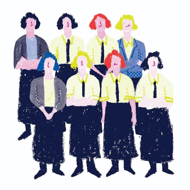 Women in Bletchley Park 1937-45  One of my favorite spots from Cracking the Code: Women Who Have Changed the Way We Look At Computers.  Written by Alisha Sadikot, illustrated by me, for @pratham.books  Find digital and translated versions at @pbstoryweaver  #prathambooks #storyweaver #womenwhocode #womenwhodraw #portraits #womenwithpencils #shreymade #bletchleypark #bletchleyettes #bletchleygirls #worldwartwohistory #codebreakers @women_ofhistory