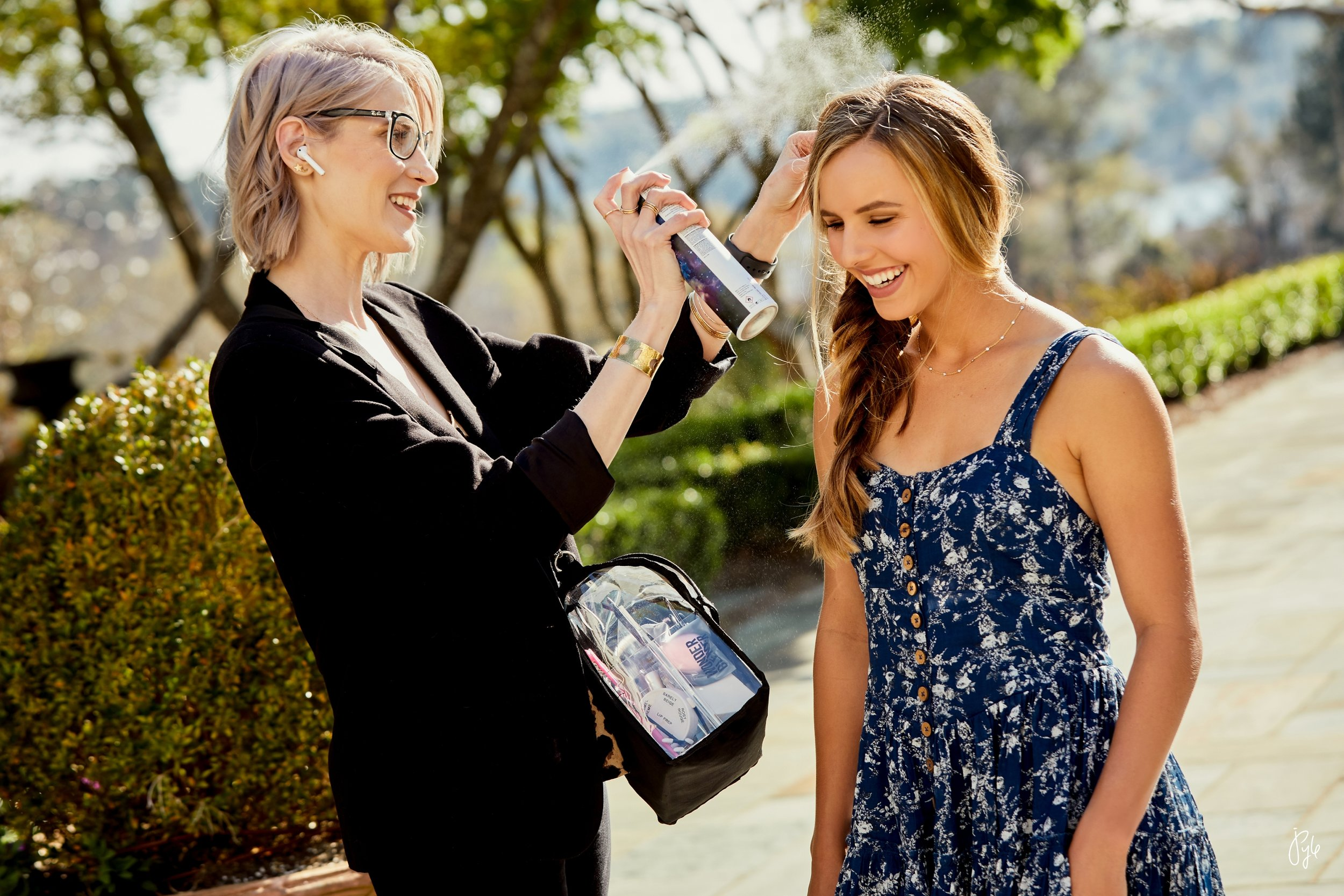 Lauryl Estelle on location with Betsy.