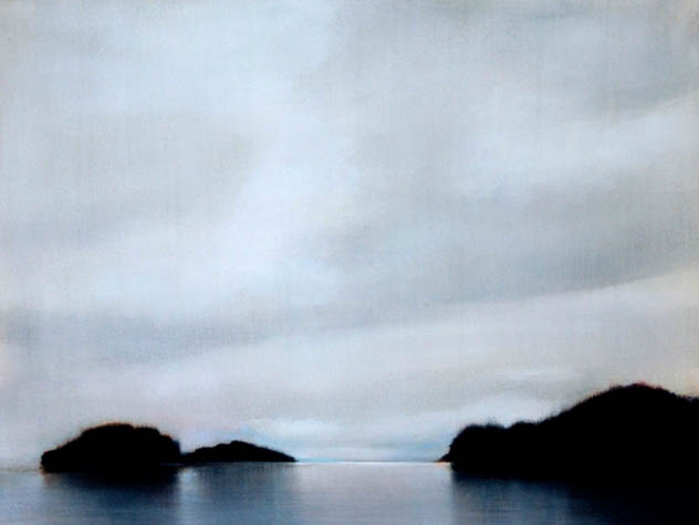 Evening at Sullivan Bay I, 2007, Oil on Canvas, 18 x 24