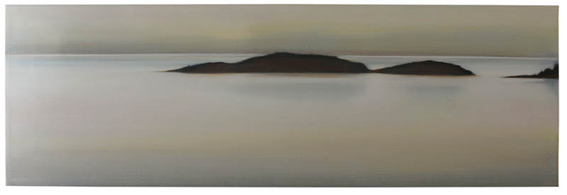 Islands II,  2010, Oil on Canvas, 13 x 40, sold