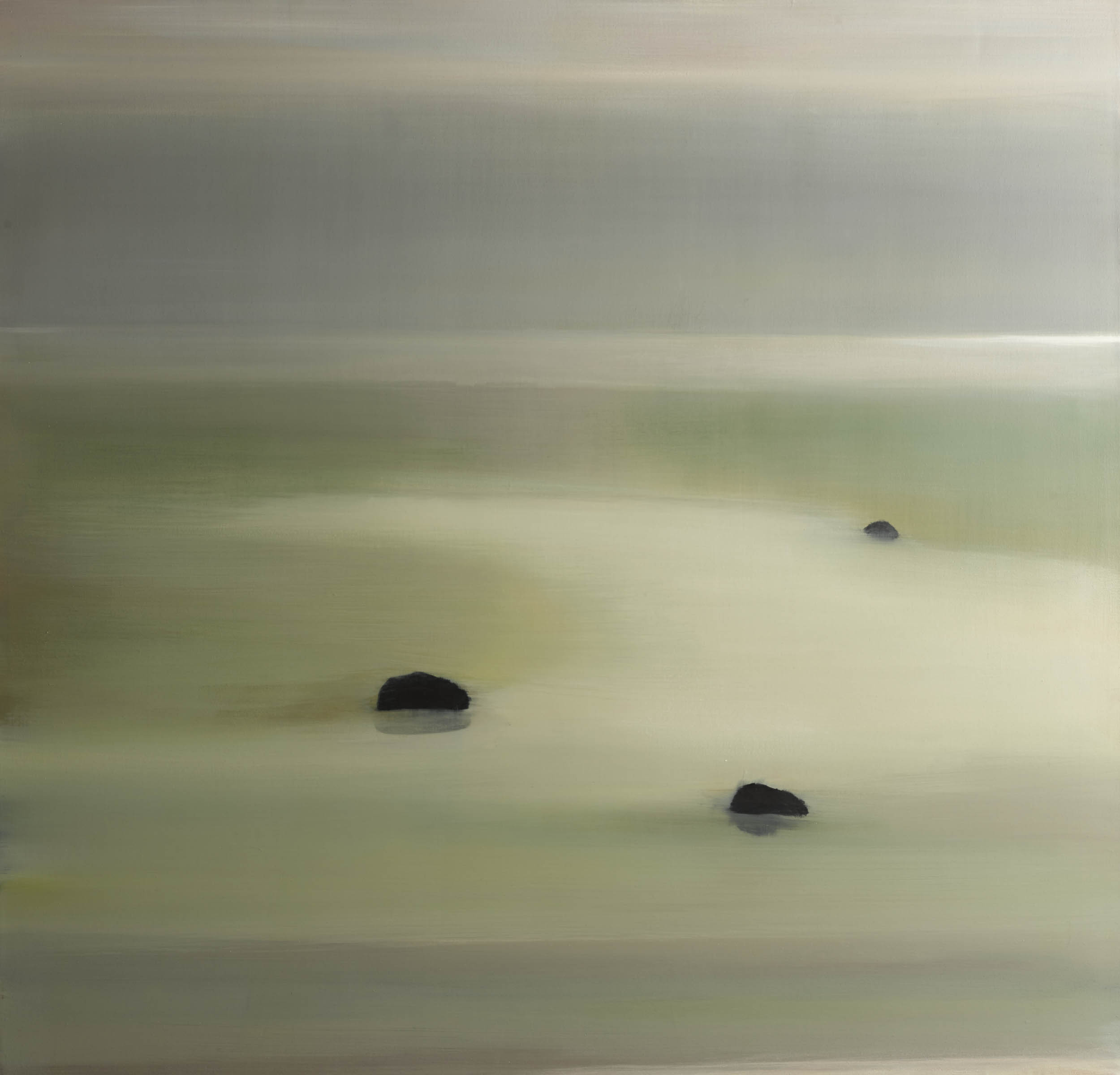Three Rocks, 2013, Oil on Canvas, 52 x 50 Sold