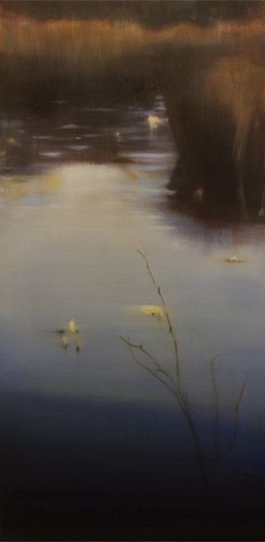 Lily Pads VIII, 2010, Oil on Canvas 36 x 18