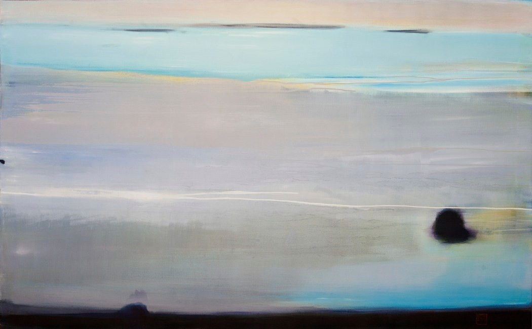 Beach II, oil on canvas, Meg Holgate, 2012
