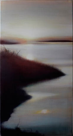 Sunrise on Quadra, 2008, Oil on Canvas 24 x 12
